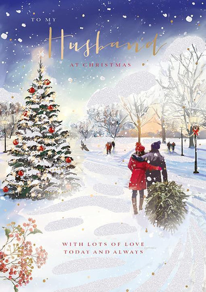 Christmas Card - Husband - Magical Walk