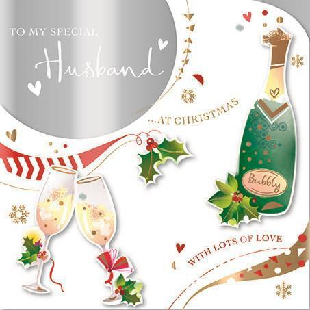 Christmas Card - Husband - Christmas Bubbly