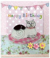 Birthday Card - Cat on Mat