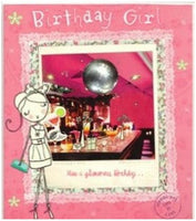 Birthday Card - Birthday Girl Disco Ball