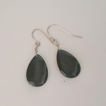 Jewellery - Teardrop Green Pearlised Earrings