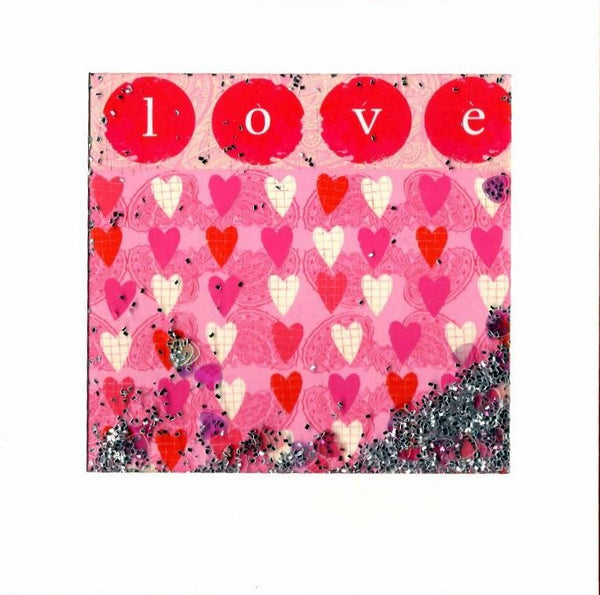 One I Love Card - Love Trailing Hearts