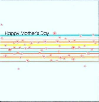 Mother's Day Card - Garland Stripes