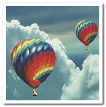 Leaving / Goodbye Card - Hot Air Balloons