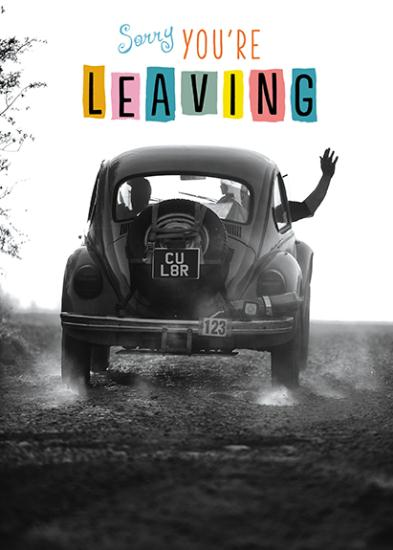 Leaving / Goodbye Card - Farewell Beetle