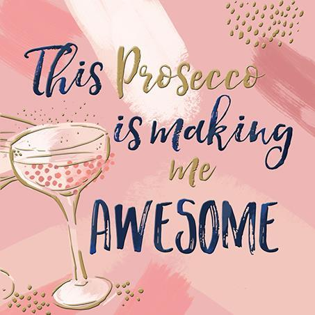 Birthday Card - Prosecco