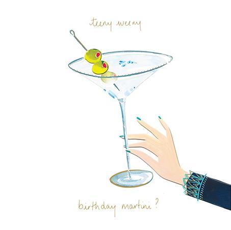 Birthday Card - Teeny Martini
