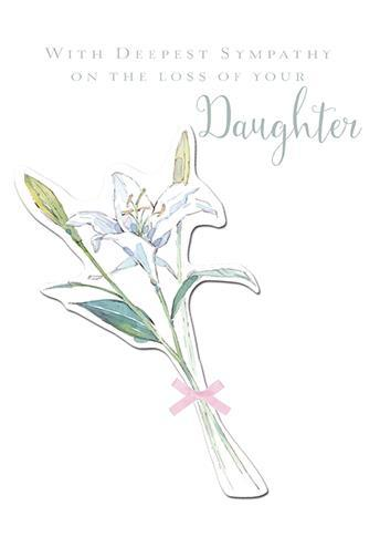 Sympathy Card - Loss Of Daughter - Thinking Of You