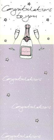Congratulations Card - Congratulations - 2 Flutes and Champagne