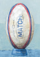 Birthday Card - Rugby Ball