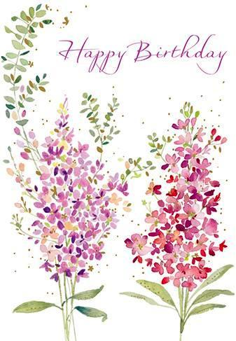 Birthday Card - Scented Stocks