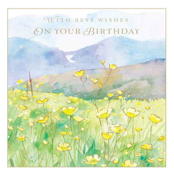 Birthday Card - Buttercup Field