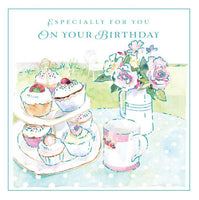 Birthday Card - Cupcakes and Tea