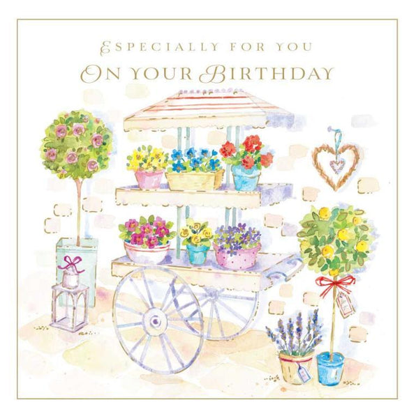 Birthday Card - Flower Cart