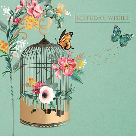 Birthday Card - Beautiful Birdcage