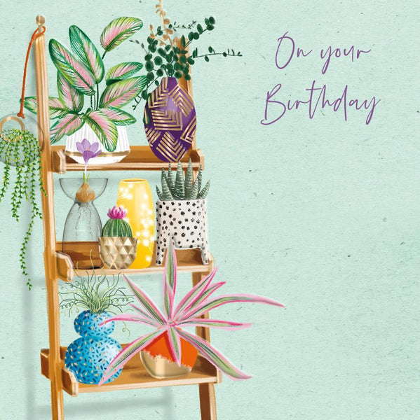 Birthday Card - Beautiful Plants