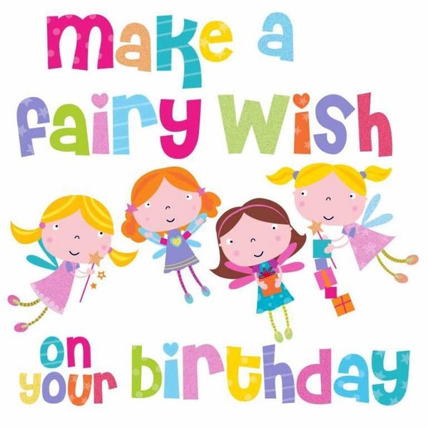 Children's Birthday Card - Fairy Wish