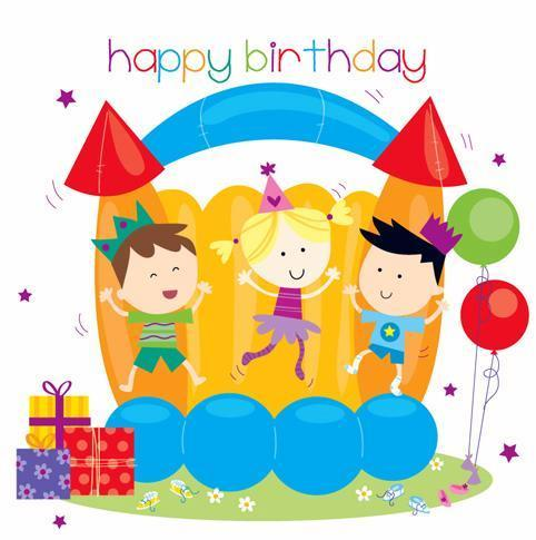 Children's Birthday Card - Bouncy Castle