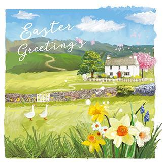 Easter Cards - Pack of - Easter Cottage