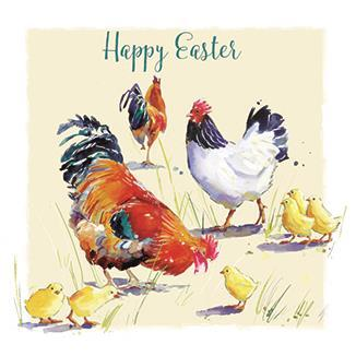 Easter Cards - Pack of - Spring Chickens