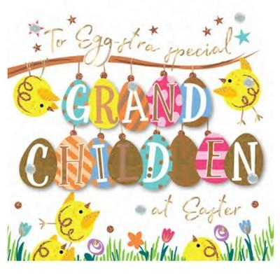 Easter Card - Grandchildren - Egg-stra Special