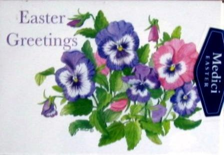 Easter Cards - Pack of 4 - Pansies