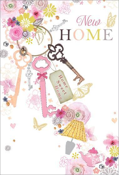 New Home Card - Floral Keys