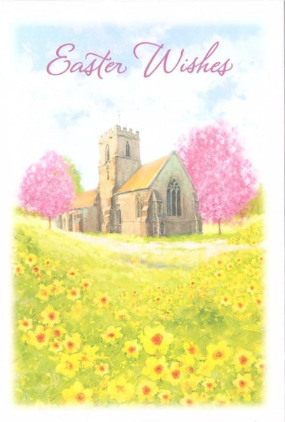 Easter Card - Church Scene