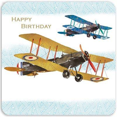Birthday Card - Biplanes