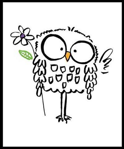 Children's Birthday Card - Cute Owl