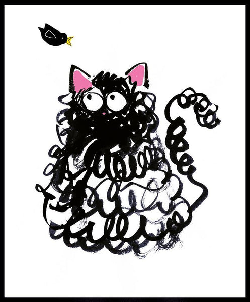 Children's Birthday Card - Crazy Cat