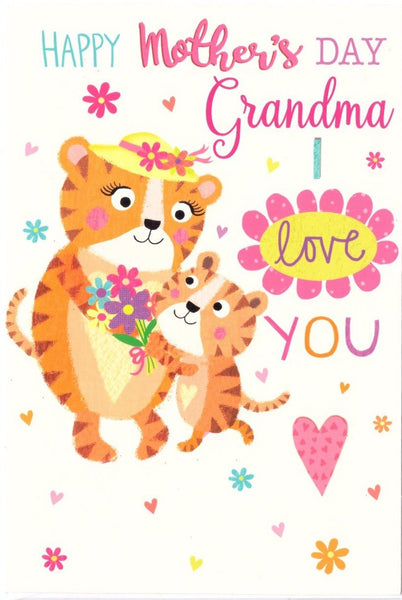 Mother's Day Card - Grandma - Tigers