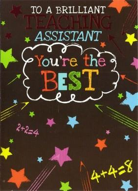 Thank You Card - Thank You Teaching Assistant - Best Cloud