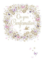 Confirmation Day Card - Beautiful Swallows