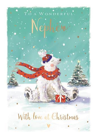 Christmas Card - Nephew - Jolly Polar Bear