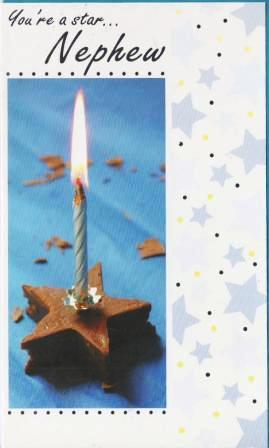 Nephew Birthday - Candle in Chocolate Star