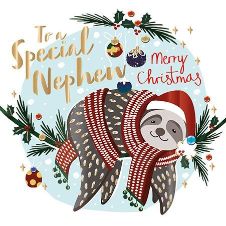 Christmas Card - Nephew - Sloth