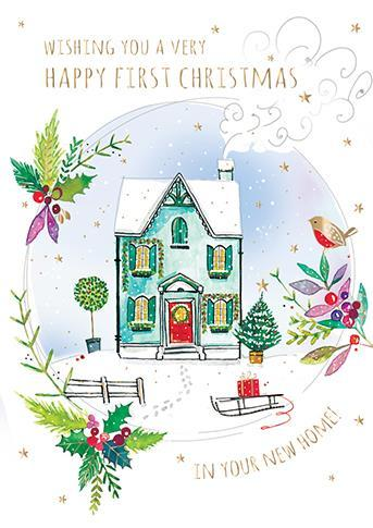 Christmas Card - 1st Christmas In Your New Home - First Home