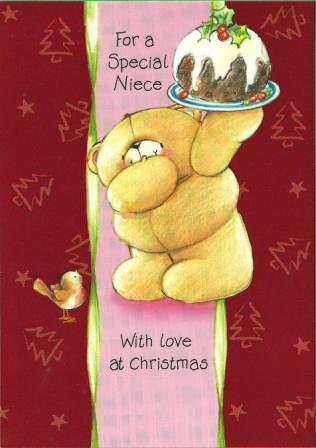 Christmas Card - Niece - Bear & Pud