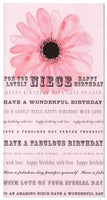 Niece Birthday - Poppy & Text