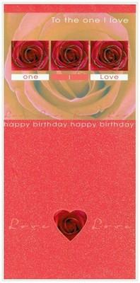 One I Love Card - Three Roses
