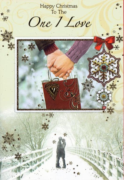 Christmas Card - One I Love - Holding Hands`
