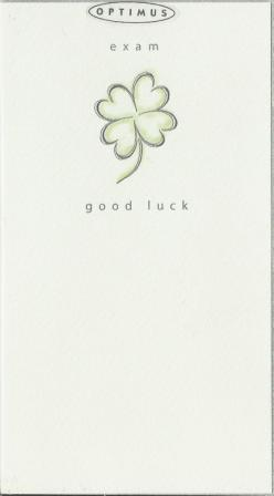 Good Luck Card - Exams - 4 Leaf Clover Sketch