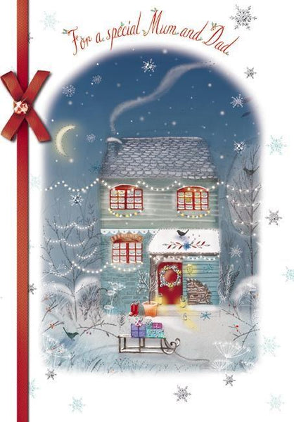 Christmas Card - Mum and Dad - Christmas Cottage