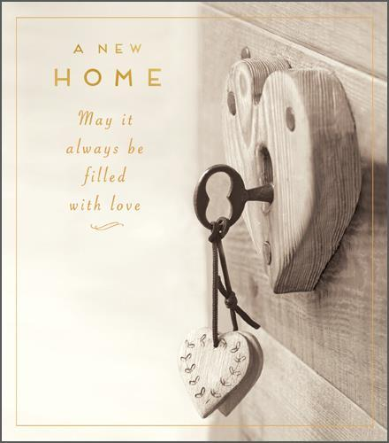 New Home Card - Filled With Love