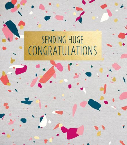 Congratulations Card - Confetti