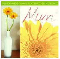 Mother's Day Card - Yellow Gerberas