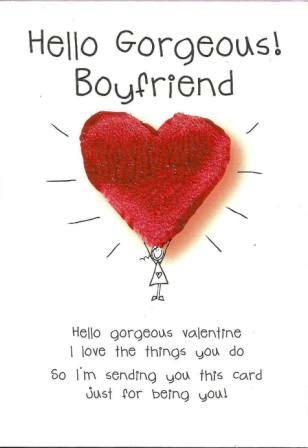 Valentine Card - Boyfriend - Hello Gorgeous!