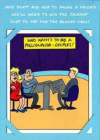 Humour Card - Millionaire Couples Phone a Friend
