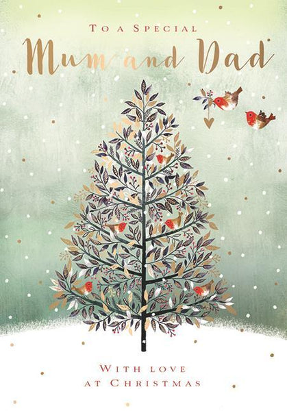 Christmas Card - Mum and Dad - Festive Tree